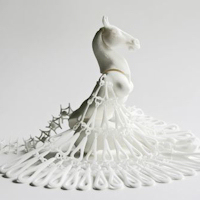 Photo of 3d print sculpture by Michaella Janse van Vuuren
