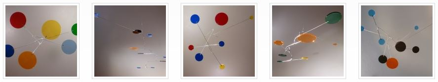 Image of Acrylic Glass Mobiles Plexi Transparent Multi Colored