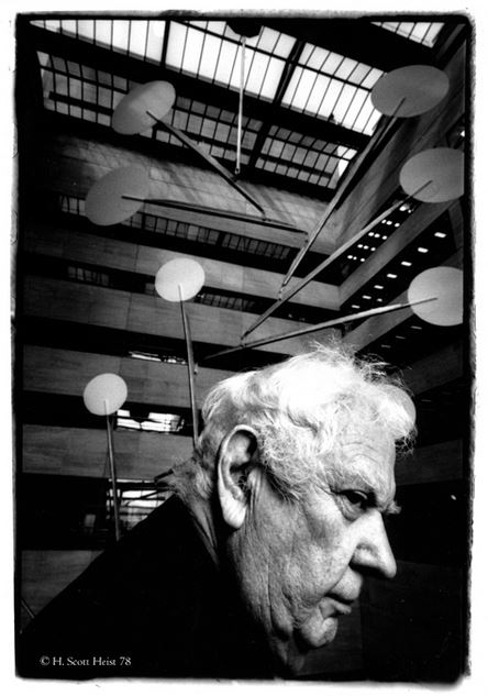 Photo of Alexander Calder and White Cascade (largest hanging mobile in the world)