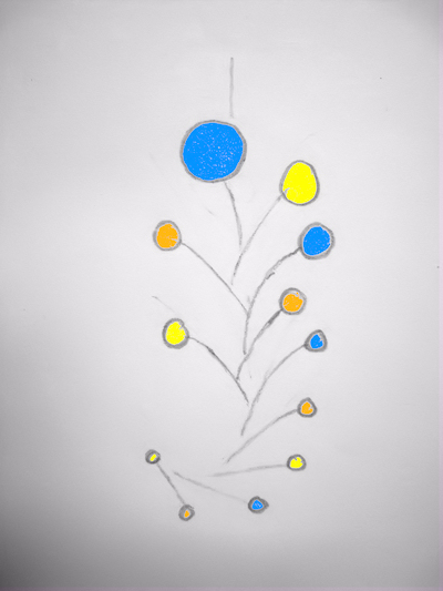 design of a custom calder mobile