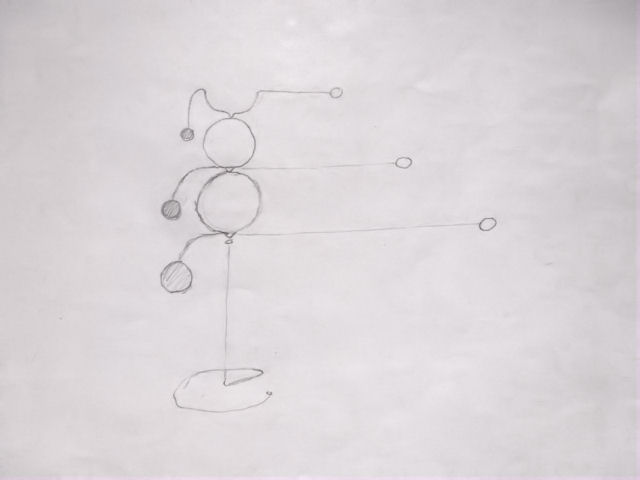 Image of Kinetic Sculpture - Stabile - 8 - Drawing - Design - Draft