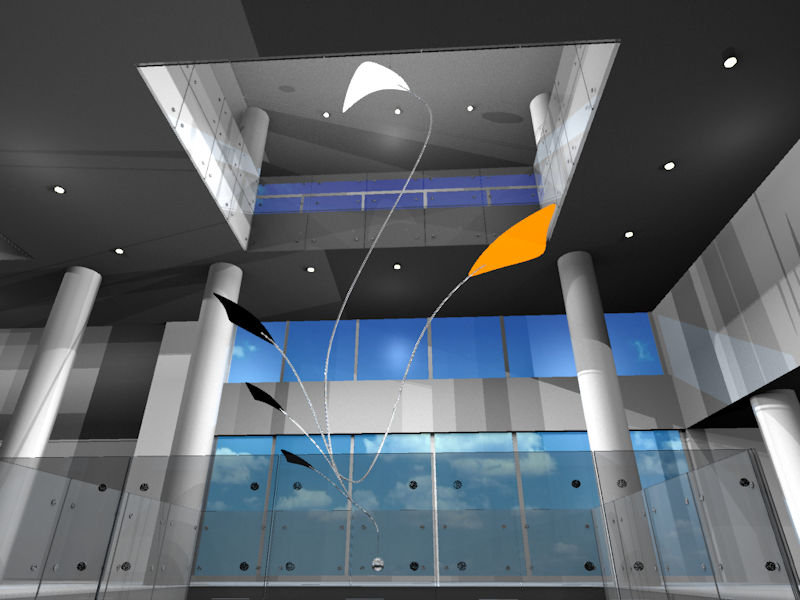 Image of Large Hanging Kinetic Sculpture