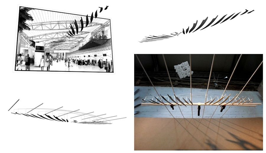 Images of a Large Hanging Moving Art Installation