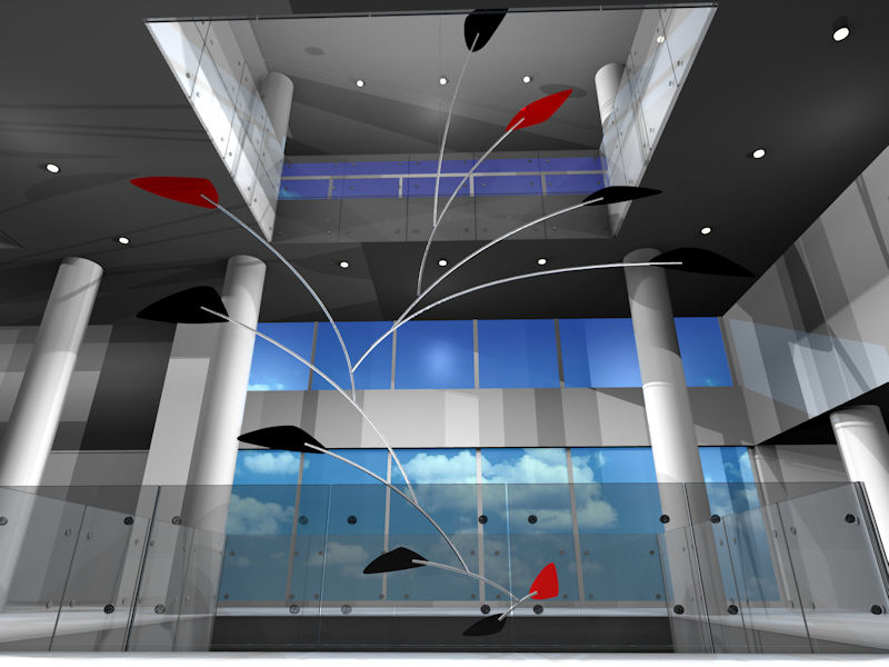 Image of Large Hanging Sculpture Calder Mobile