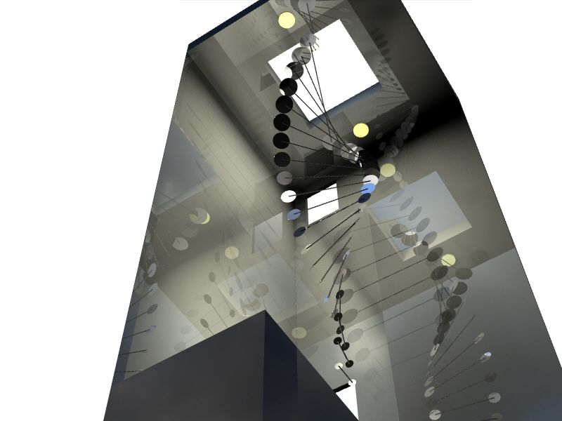 Image of Mirror Mobile with Reflective Walls