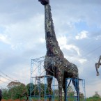 Recycled Metal Sculpture - Giraffe - by Tom Samui