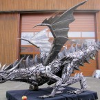Dragon - Sculpture made from recycled metal by Tom Samui