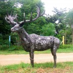 Deer - Sculpture made from recycled metal by Tom Samui