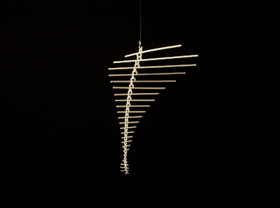 Photo of 3D Printed Art Mobile Hanging Kinetic Wire Sculpture Marco Mahler 17