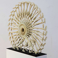 Photo of 3d printed artwork by Monika Horcicova