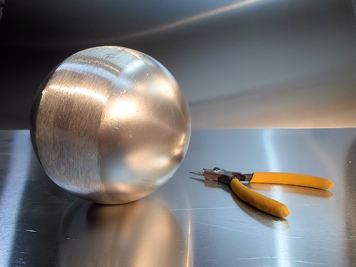 Photo of Hollow Metal Sphere (Aluminum Ball) for a Custom Mobile