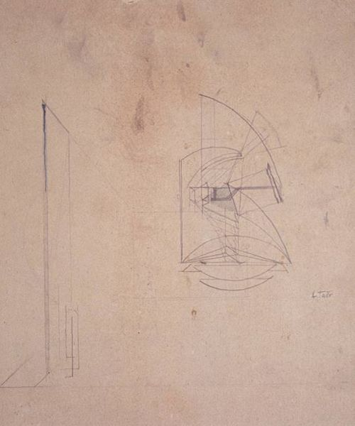 Image of Naum Gabo Sketch for a Mobile Construction