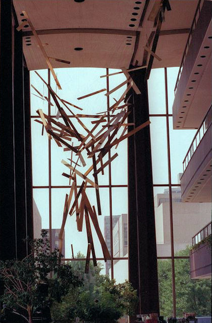 Photo of Richard Lippold Orpheus and Apollo 1961 Large Hanging Sculpture