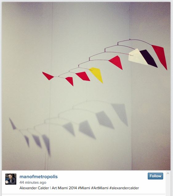 Photo of Alexander Calder Mobile for sale at Art Basel Miami Beach