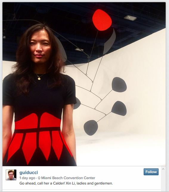 Photo of Xin Li with Calder Mobile for sale