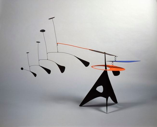 Image of Alexander Calder stabile standing mobile kinetic sculpture