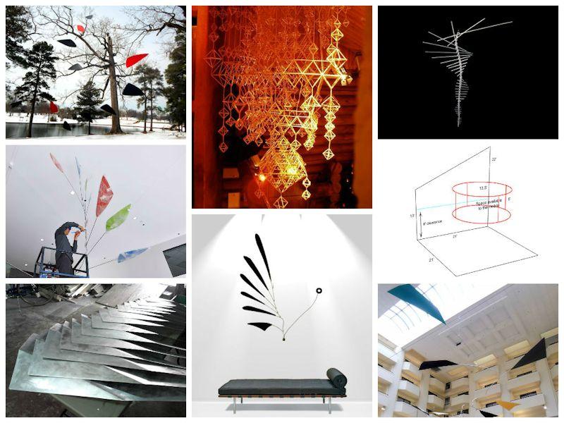 Image of Fine Art Mobiles Original Ceiling Sculptures Calder