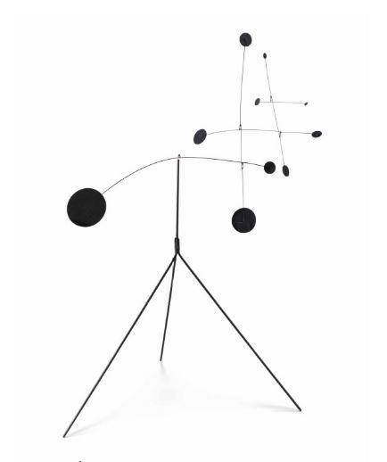 Image of Calder Standing Mobile Kinetic Sculpture For Sale