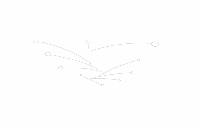 Image of design for custom-made mobiles hanging kinetic art sculpture Calder like