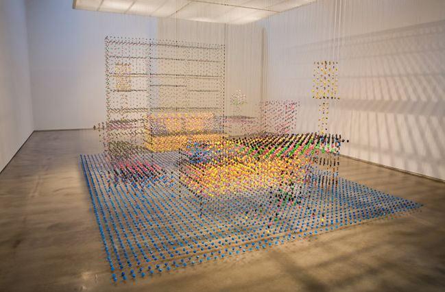 Image of hanging sculpture space interior design Chris Dorosz