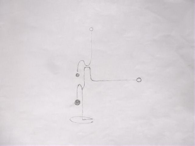 Image of Kinetic Sculpture - Stabile - 11 - Drawing - Design - Draft