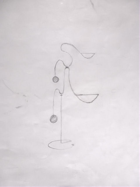 Image of Kinetic Sculpture - Stabile - 4 - Drawing - Design - Draft