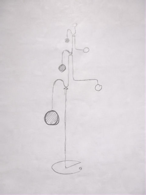 Image of Kinetic Sculpture - Stabile - 7 - Drawing - Design - Draft