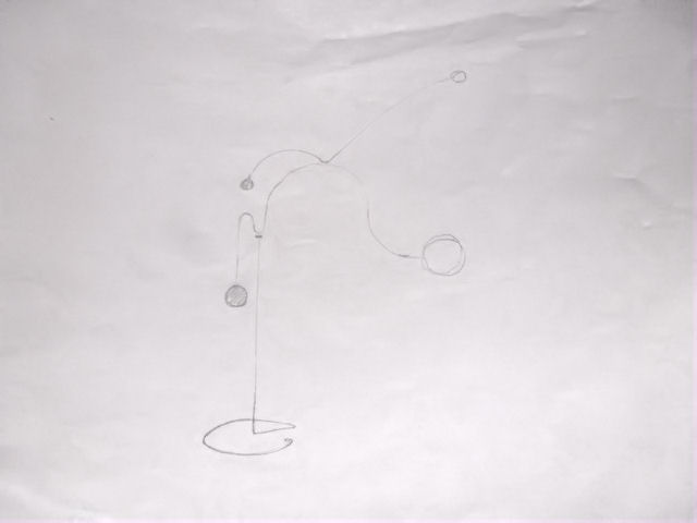 Image of Kinetic Sculpture - Stabile - 9 - Drawing - Design - Draft