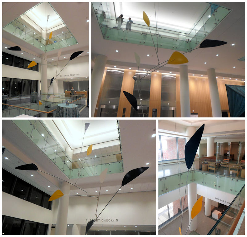 Photos of a Large Atrium Sculpture Kinetic Fine Art Mobile