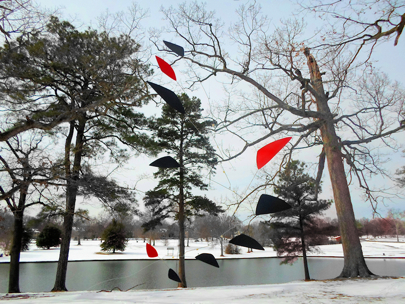 Photo of Large Custom-Made Mobiles Outdoors