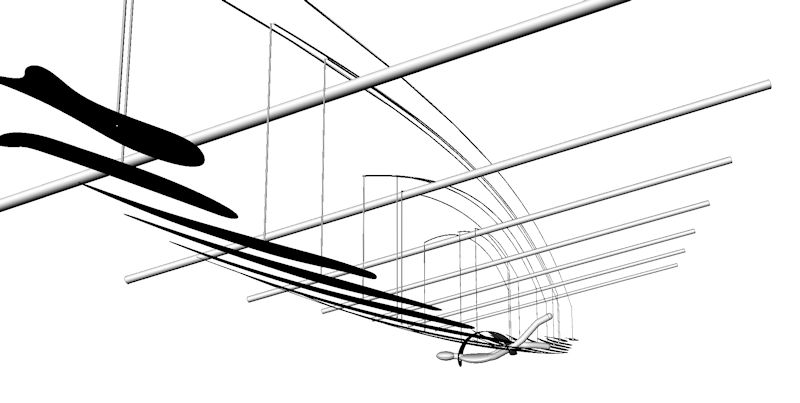 Image of Large Hanging Art Installation