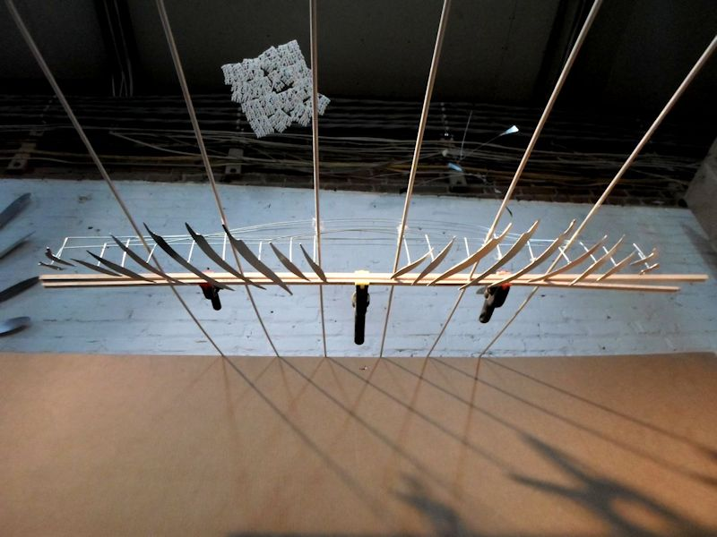 Image of Large Suspended Art Installation