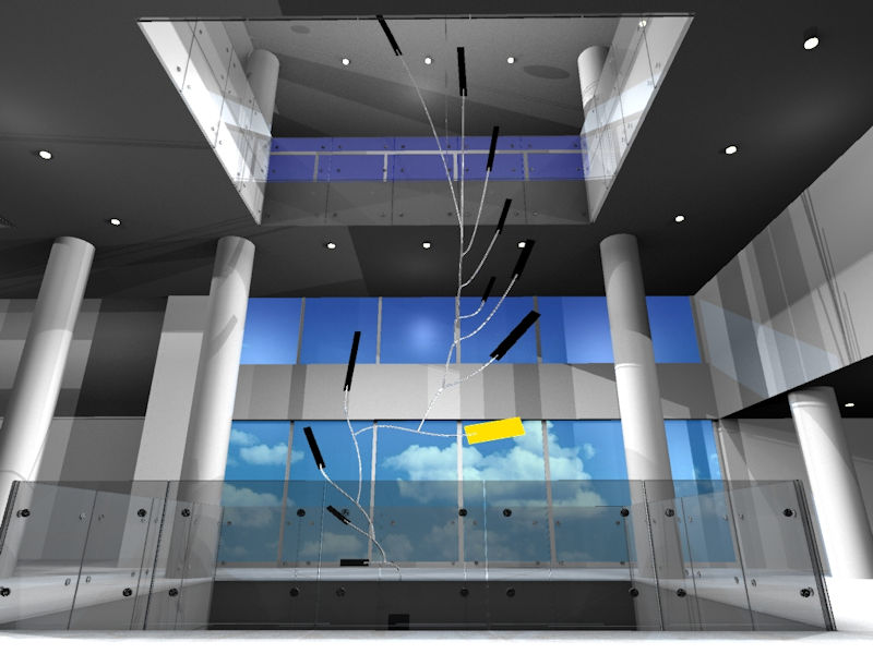 Image of Large Suspended Artwork Custom Made