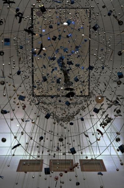 Image of suspended sculpture contemporary Ralph Helmick and Stuart Schechter
