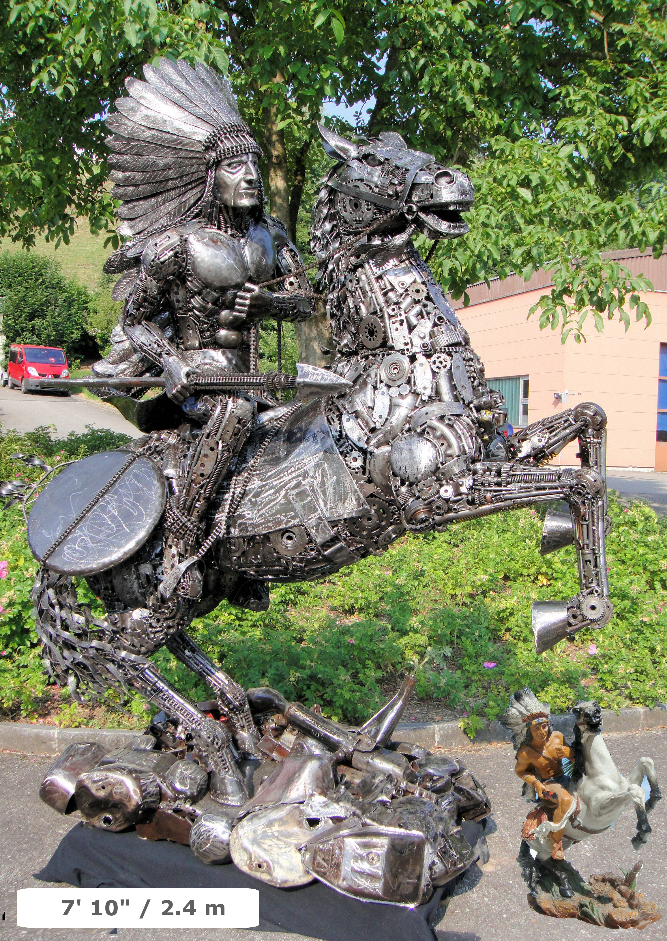 Custom Sculptures Made From Recycled Metal By Tom Samui on welded metal art sculptures