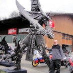 Warrior - Sculpture made from recycled metal by Tom Samui